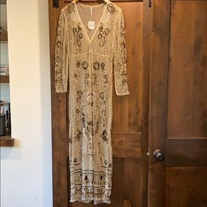 Sheer Free People sequined maxi dress